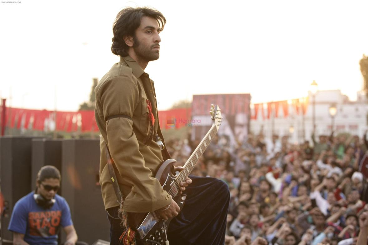 Ranbir Kapoor in the still from movie Rockstar shown to user